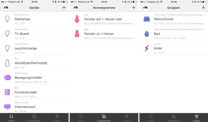homee - iOS App auf dem iPhone 6