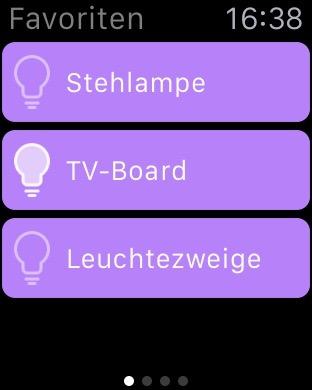 homee - iOS-App auf der Apple Watch