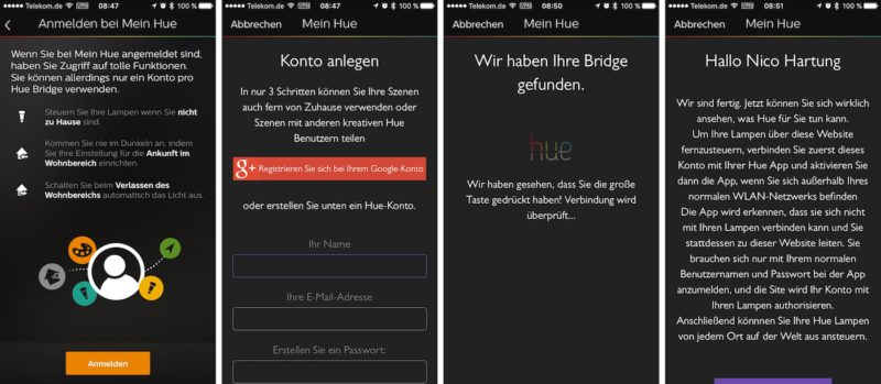 Philips Hue - Mein Hue Account anlegen