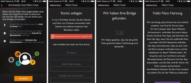 hue meet account 800x349 - Erfahrungsbericht – Philips Hue Starter Set & Wireless Dimming Kit (E27)