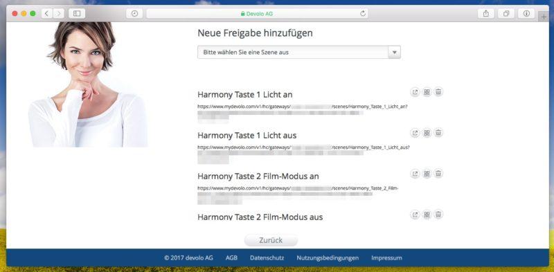 "devolo harmony szenen freigabe 800x393 - Logitech Harmony Companion - Haussteuerungstasten ""fremd"" belegen - HA Bridge"