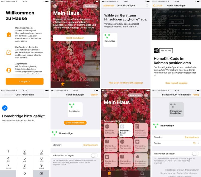 apple home homekit mit homebridge verbinden 800x703 - Apple Home (HomeKit) - Devolo Geräte mit der Apple App steuern - Homebridge