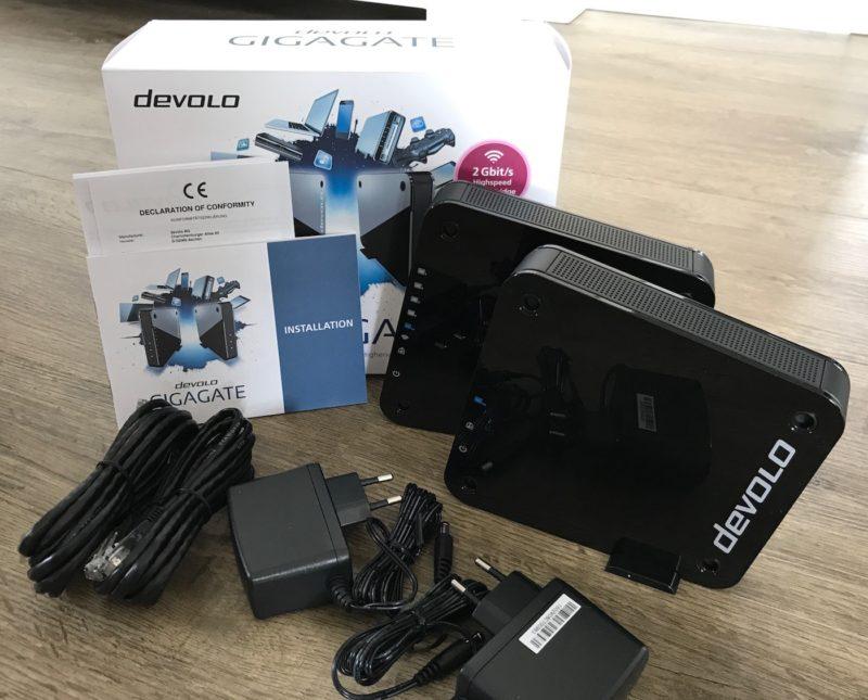 devolo gigagate starterkit lieferumfang 800x645 - Test /Erfahrungsbericht - devolo GigaGate Starter Kit