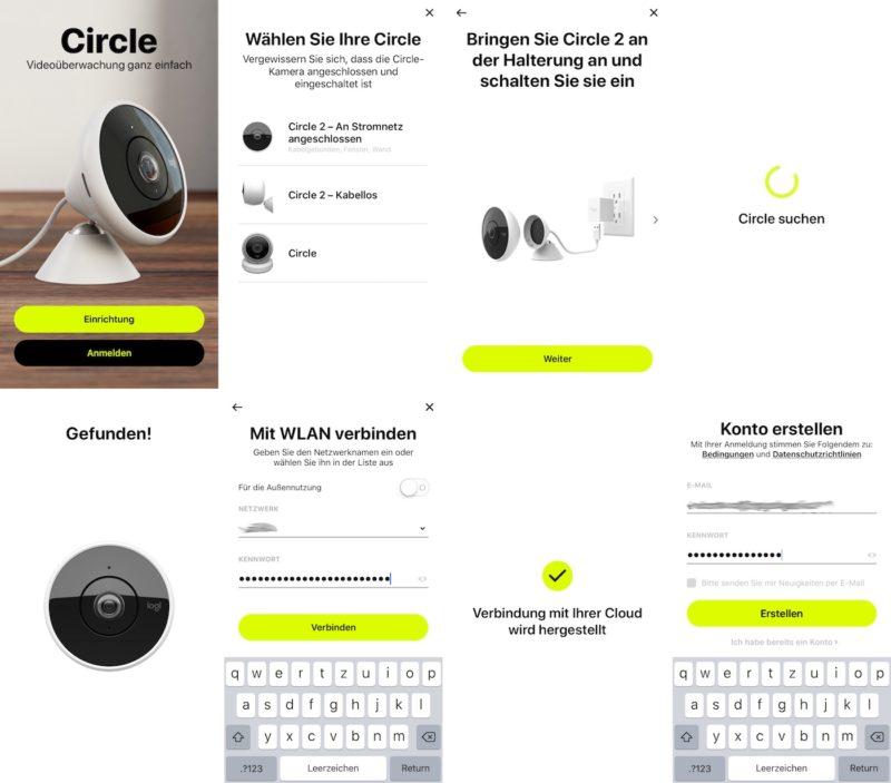 logitech circle 2 einrichtung 800x703 - Test – Logitech Circle 2 Kamera | 180-Grad-Objektiv | HomeKit