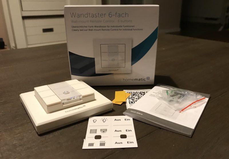 homematic ip wandtaster 6 fach mmip wrc6 lieferumfang ovp 800x557 - Kurztest – HomeMatic IP – Wandtaster 6-fach (HmIP-WRC6)