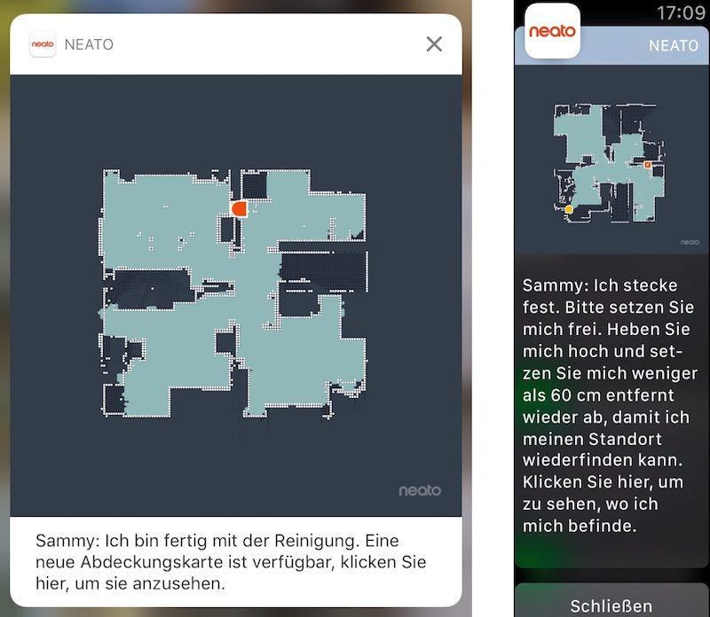 neato ios benachrichtigungen 800x696 - App Update - Neato Connected Staubsaugerroboter