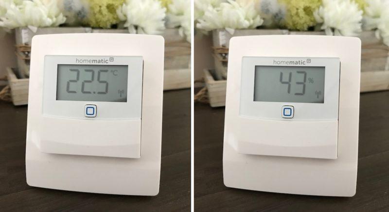 HmIP STHD inkl HMIP DS55 Sideboard2 800x437 - Test - Wärmeschutz mit Homematic IP Temperatur- und Luftfeuchtigkeitssensor - HmIP-STHD