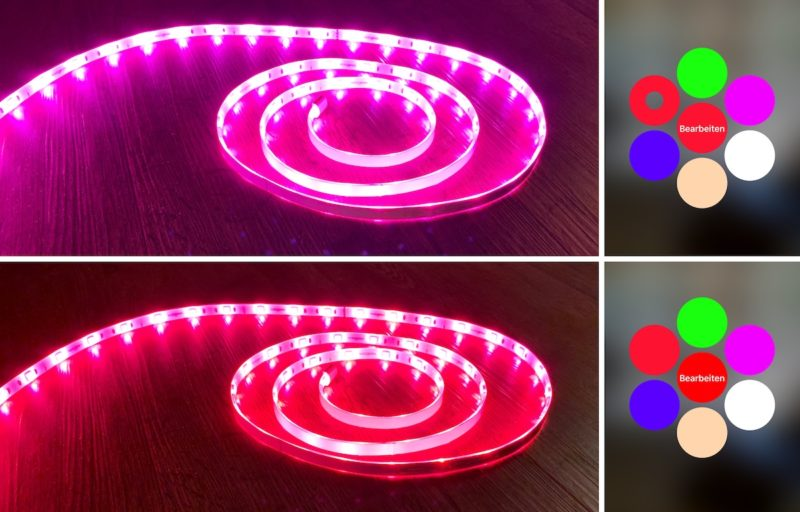 Koogeek LS1 Light Strip Farbspektrum 800x512 - Test - Koogeek LS1 Light Strip mit HomeKit-Unterstützung
