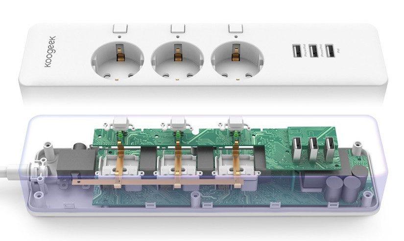 koogeek o1eu pressebild2 825x493 - Test – Koogeek O1EU Steckdosenleiste mit USB und HomeKit-Unterstützung