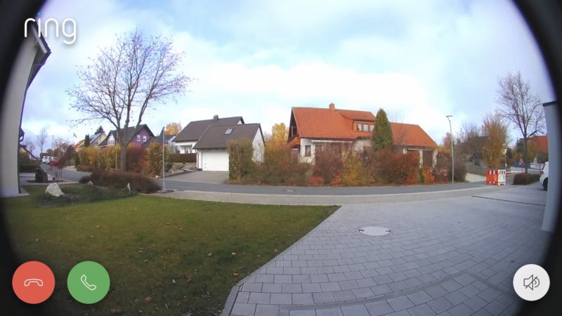 ring video doorbell pro liveansicht liveview 800x450 - Test - Ring Video Doorbell Pro - Smarte Türklingel mit Gong