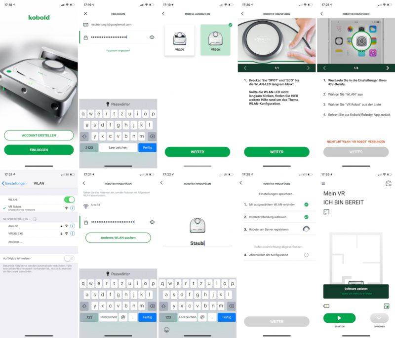 vorwerk kobold vr300 einrichtung per ios app 800x686 - Test – Vorwerk Kobold VR300 Saugroboter