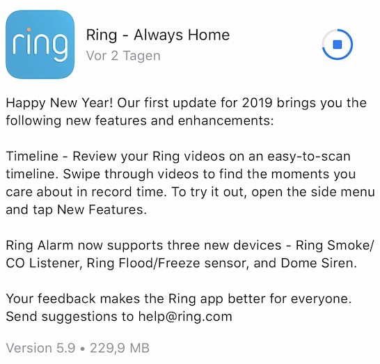ring app ios update timeline preview 01 - App Update - Ring Video Doorbell's