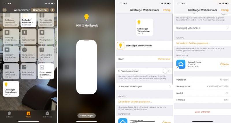 koogeek lb2 smart bulb wifi home app 800x427 - Test – Koogeek LB2 E26 LED Lampe mit HomeKit-Unterstützung