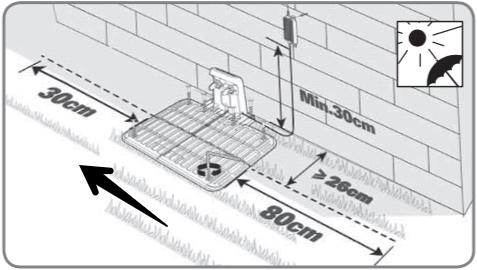 worx landroid m500 wr141e illustration ladestation - Test - Worx Landroid M500 2019 (WR141E) - Mähroboter