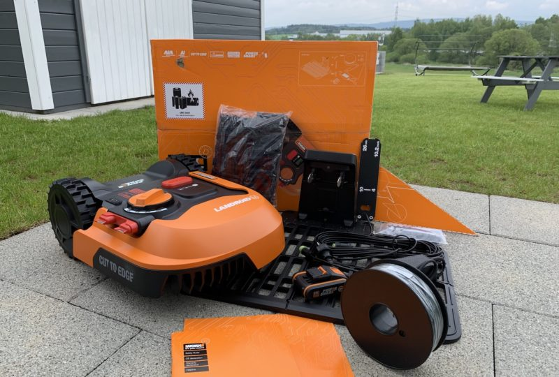 worx landroid m500 wr141e lieferumfang 800x540 - Test - Worx Landroid M500 2019 (WR141E) - Mähroboter