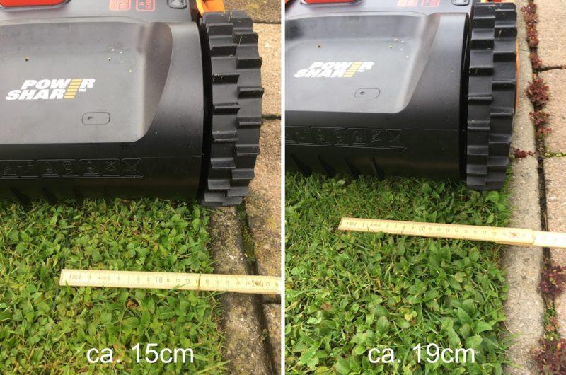 Worx Landroid M500 2019 (WR141E) - Abstand Begrenzungsdraht