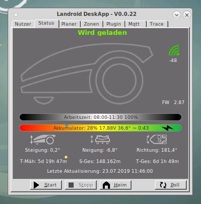 worx landroid m500 wr141e deskapp screenshot - Test - Worx Landroid M500 2019 (WR141E) - Mähroboter