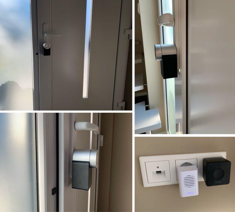 nuki combo 2punkt0 smart lock 2null bridge bilder montiert angeschlossen 800x721 - Test - NUKI Combo 2.0 - Smartes Türschloss mit Apple HomeKit