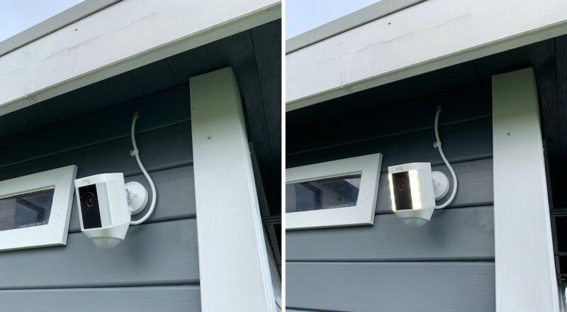 ring spotlight cam wired montiert 800x440 - Test - Ring Spotlight Cam Wired mit 140° Blickwinkel