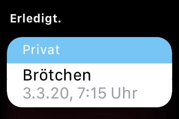 IMG 3547 - Apple Watch - Erinnerungen - Hey Siri, erinnere mich morgen um 10 an ...