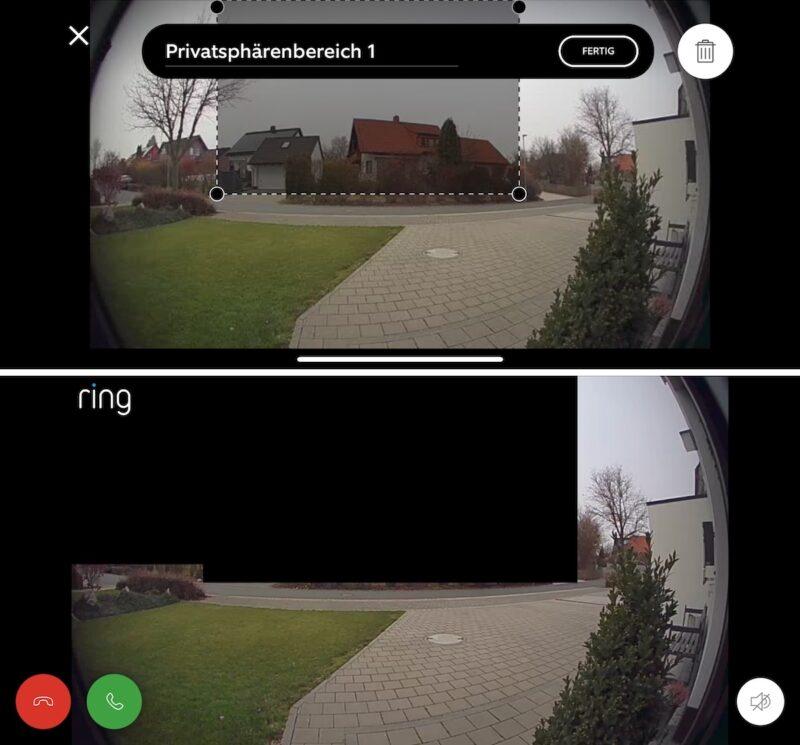 ring video doorbell 3 plus datenschutz privatsphaere 800x745 - Test - Ring Video Doorbell 3 Plus