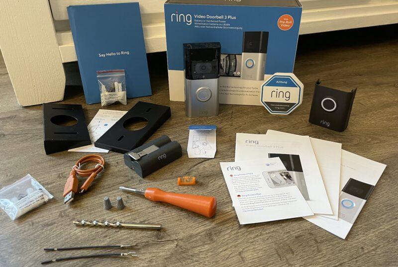 ring video doorbell 3 plus lieferumfang neu 800x537 - Test - Ring Video Doorbell 3 Plus