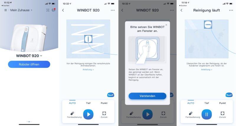 ecovacs winbot 920 reinigung teil1 800x427 - Test - Ecovacs WINBOT 920 - Fensterputzroboter