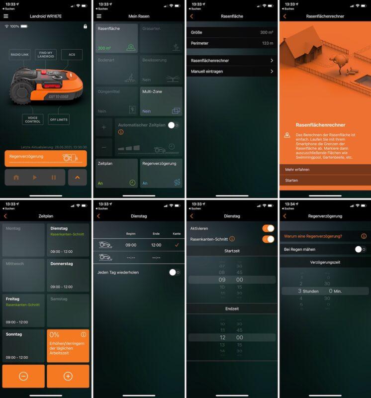 worx landroid app einrichtung manueller zeitplan 746x800 - Test – Worx Landroid M700 2021 (WR167E) – Mähroboter