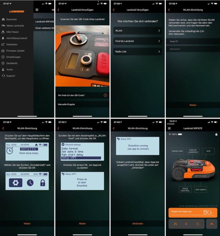 worx landroid app einrichtung wlan verbindung 746x800 - Test – Worx Landroid M700 2021 (WR167E) – Mähroboter