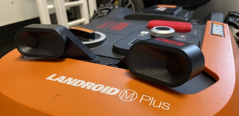 landroid wr167e m700 plus acs wa0860 angebaut 800x388 - Test – ACS (Kollisionssensor) am Worx Landroid WR167E